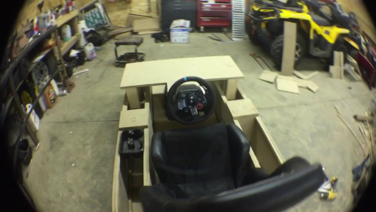 Custom Racing Simulator With Logitech G29 Youtube