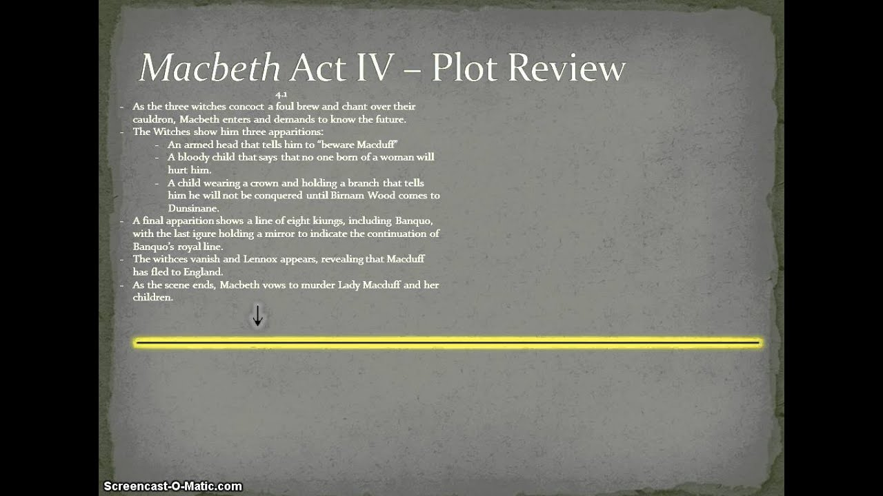 plot summary of macbeth Macbeth: plot summary (acts 1 and 2) act 1, scene 4 macbeth and banquo reach king duncan's castle and duncan praises macbeth for his loyalty and valor he also embraces banquo and thanks him for his courage during the rebellion.