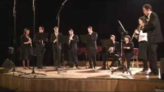 """""""Easy winners""""  Scott Joplin played by clarinet choir"""