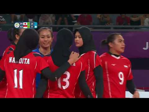 Full Match Bola Voli Putri Jepang Vs Indonesia 3   0   Asian Games 2018   Vidio Com Vidio Playlist 1