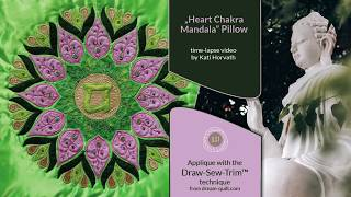 How it was made - DST 4. Heart Chakra Mandala Pillow (DST / Time-lapse)