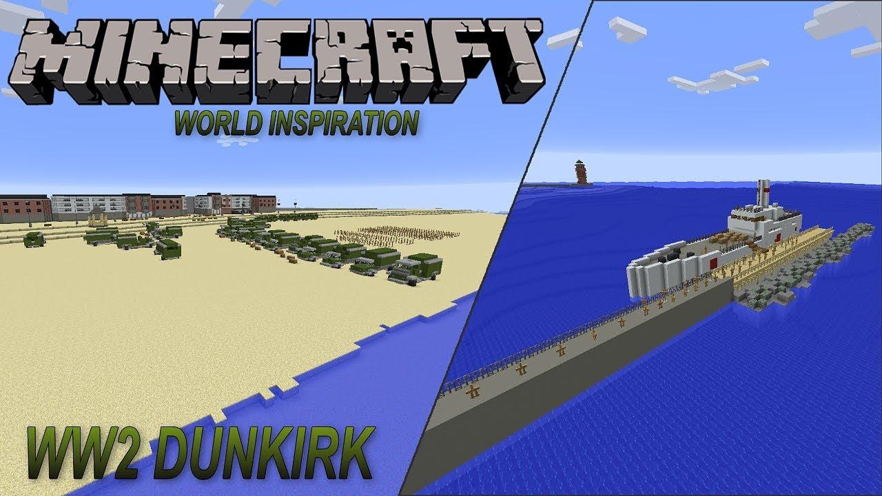 Minecraft World Inspiration/Ideas WW2 Dunkirk