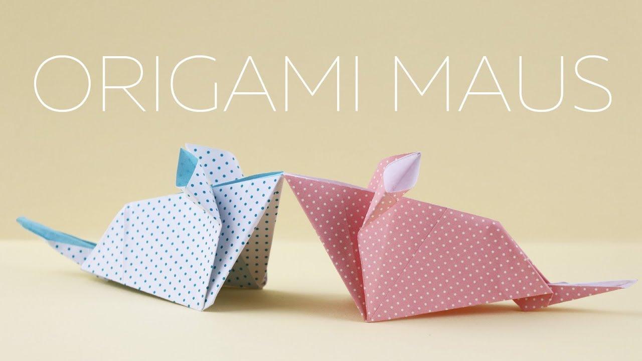 origami maus falten anleitung youtube