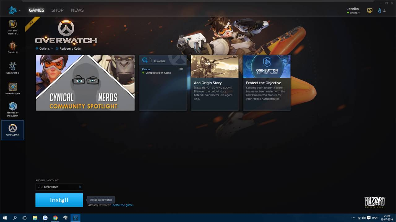 overwatch how to get in ptr