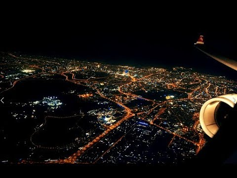 Swiss Airbus A330 - Istanbul, Sunset and Dubai Night Skyline in First Class