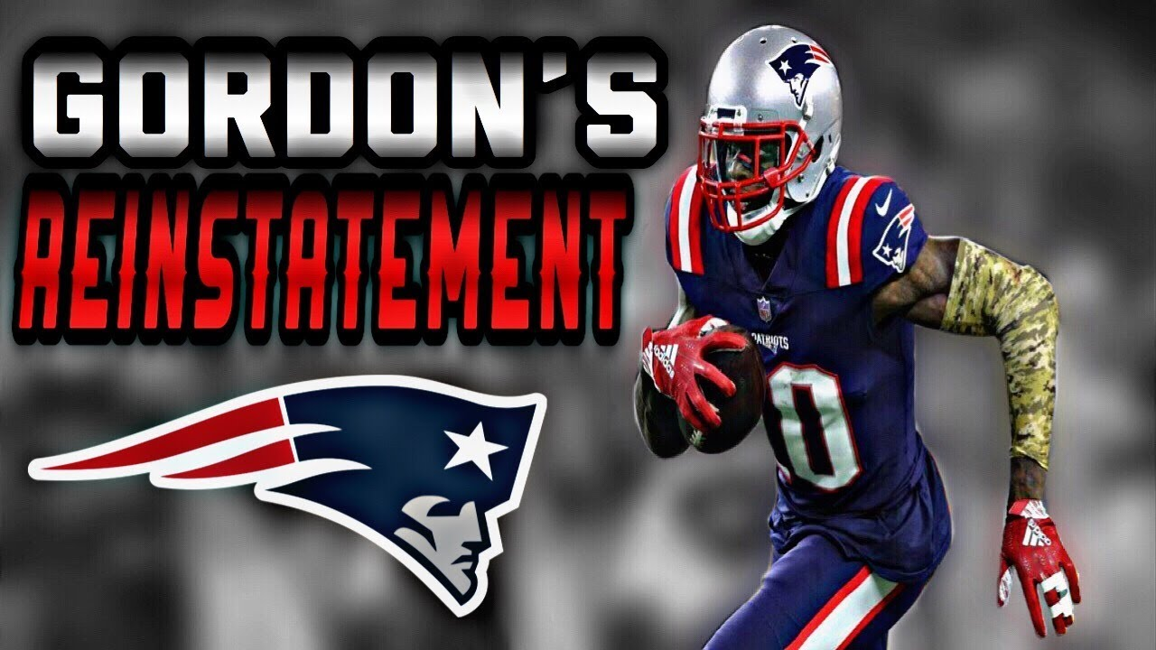 Josh Gordon is reinstated, and he can resume playing for the Patriots soon