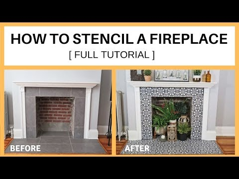 how-to-stencil-a-fireplace-[-full-tutorial]