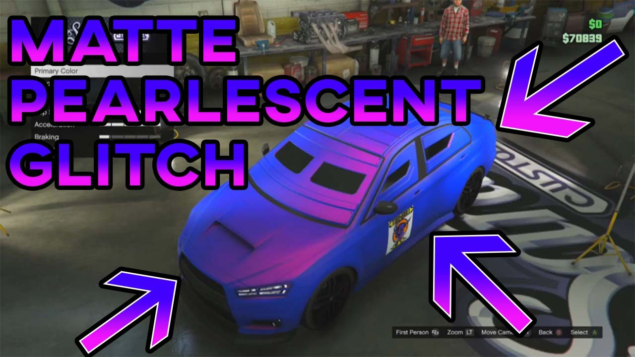 Gta 5 Quot Paint Jobs Quot Matte Pearlescent Glitch Easy Solo