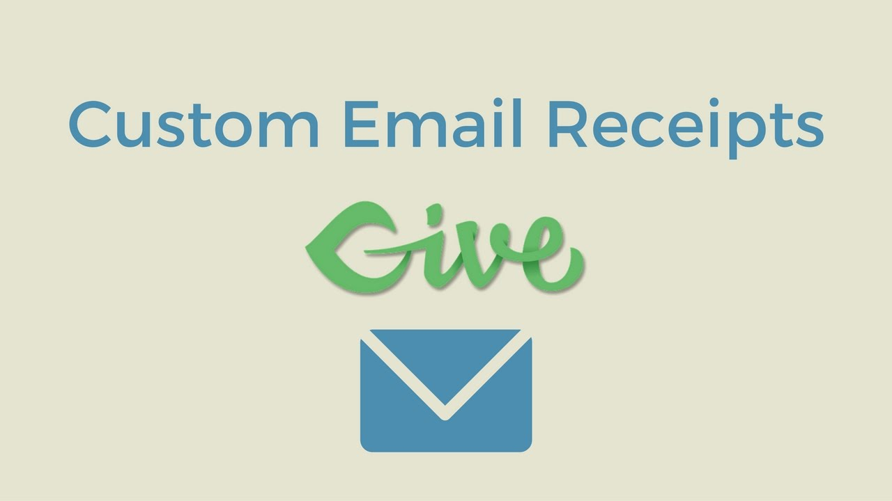 give custom donation receipt email template tutorial youtube