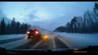 Смертельный занос Volkswagen Polo на трассе Северодвинск - Архангельск