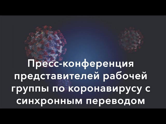 Прямая трансляция пресс-конференции рабочей группы по коронавирусу (2 апреля)