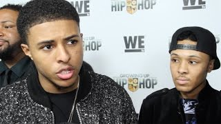 "Diggy Simmons & Russell Simmons II interview ""Growing Up Hip Hop"" Premiere in NYC"