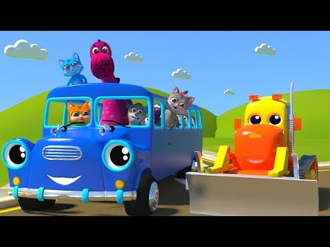 Wheels on the bus go round and round all thru the town Part 7 | Plus other favorite nursery rhymes