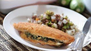 Filete De Pescado Florentina - Recetas De Cuaresma - Stuffed Fish Fillet - Como Cocinar