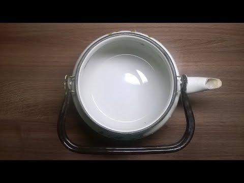 Как почистить чайник эмалированный от накипи