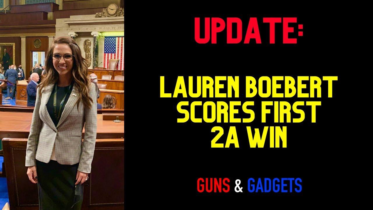 Congresswoman Boebert Scores Her 1st 2A Victory