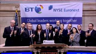 22 September 2011 BT Group rings the NYSE Closing Bell