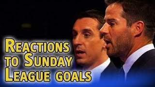 Gary Neville & Jamie Redknapp watch amazing Sunday League goals