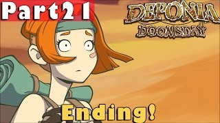 #21| Deponia Doomsday Gameplay Guide | Ending! | PC Full Walkthrough