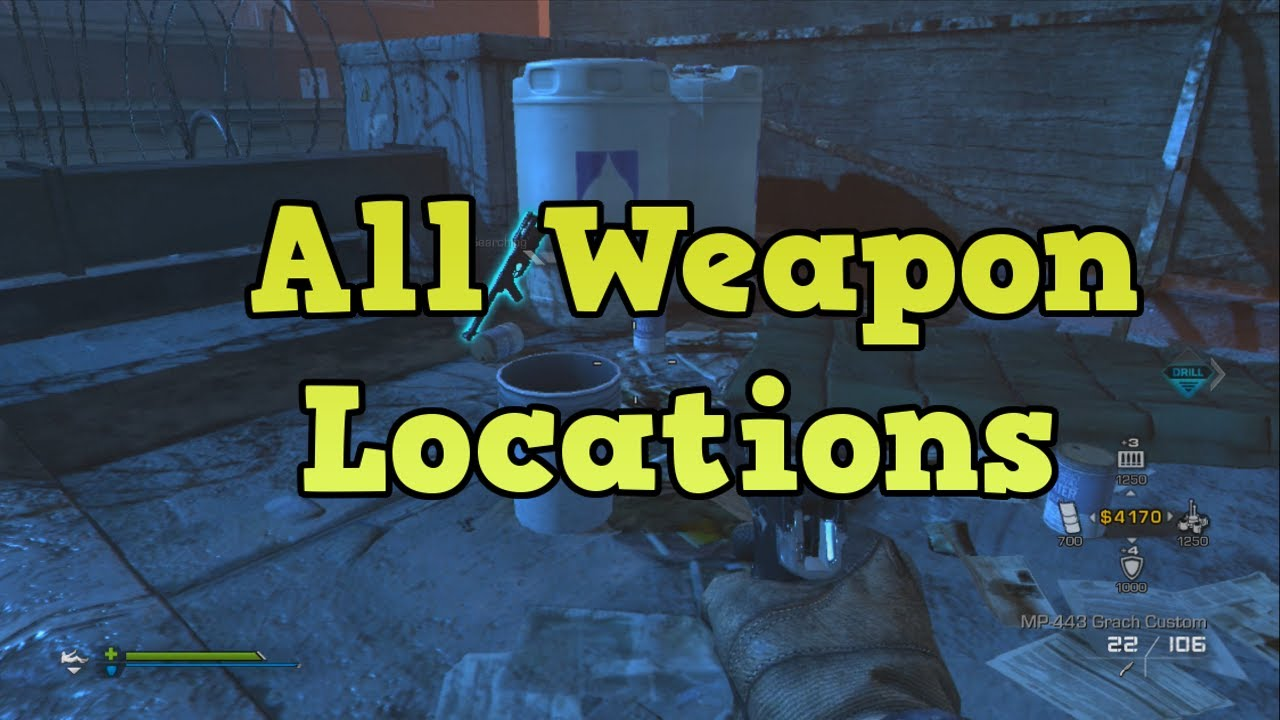 Cod Ghosts Extinction All Weapons With Locations Point Of