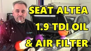 Seat Altea 1.9 TDI Oil & Filter + Air Filter (VW Audi Skoda)