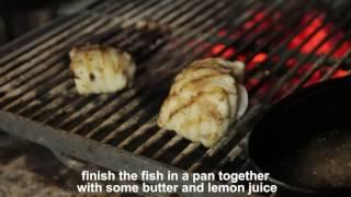 Рецепт приготовления рыбы черт в угольной печи Kopa от Технофуд