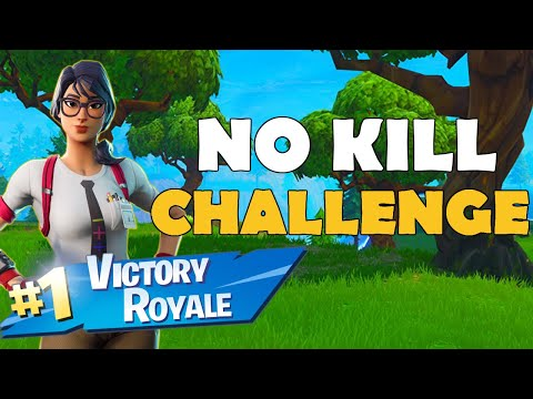 WINNING THE NO KILL CHALLENGE IN Fortnite Battle Royale