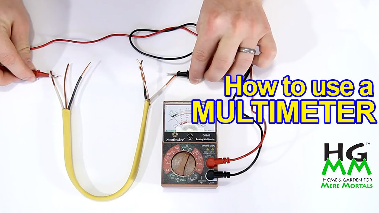 how to use a multimeter or voltmeter basics you need to know  [ 1280 x 720 Pixel ]