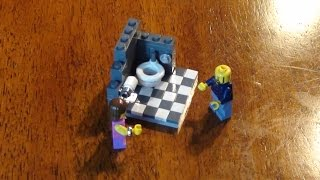 Lego Tutorial - How To Build A Toilet