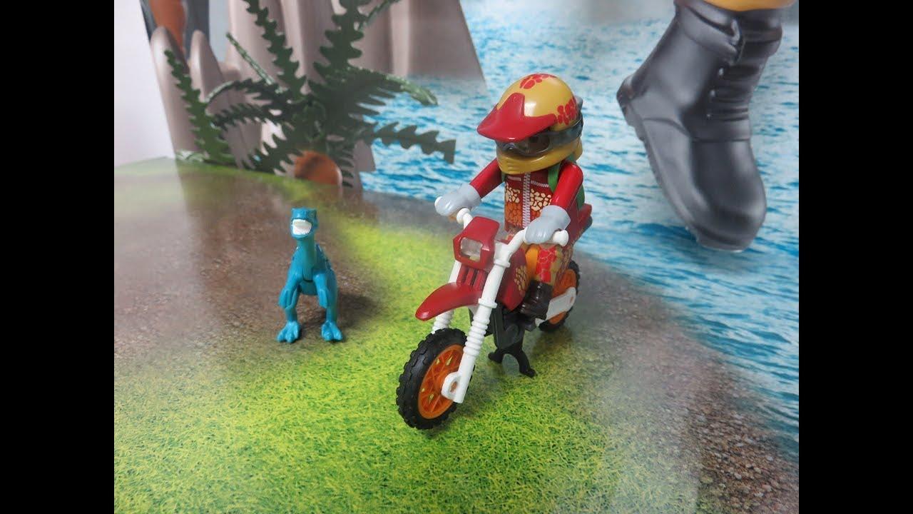 Abenteuer Playmobil 9431 Motocross-Bike mit Raptor PLAYMOBIL The Explorers