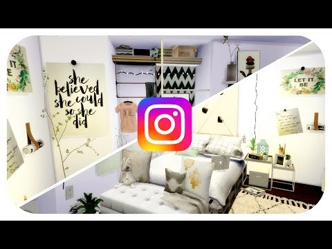 The Sims 4 | Social Media Room Build - Instagram  | Organic Monochrome Bedroom!
