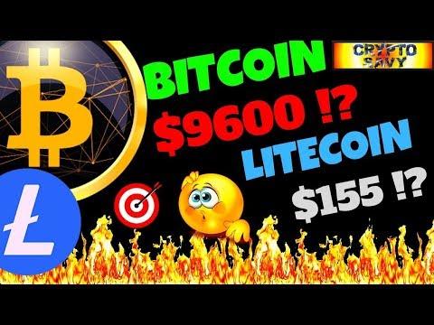 🔥BITCOIN $9600 LITECOIN $155 ?!🔥 Bitcoin Litecoin Technical Analysis, Charts, News