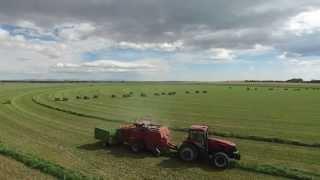 Baling Green Alfalfa in the High Desert of Wyoming