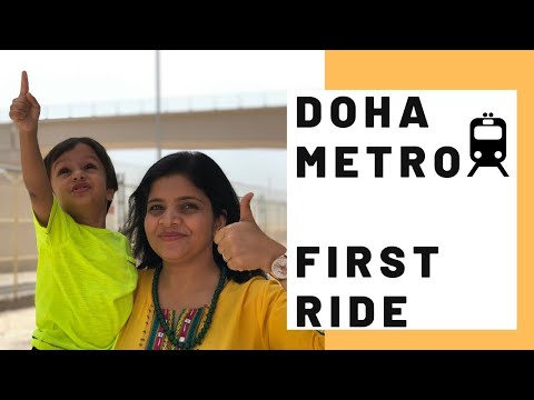 Doha Metro Red Line Opens | Ticket Rates | Parking | Qatar Doha Metro Rail Route Experience