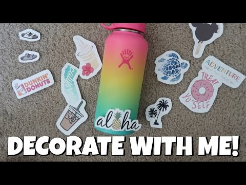 Redbubble Stickers Haul + Decorating My Hydro Flask | Shave Ice Limited Edition