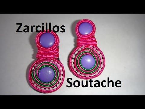 Zarcillos Soutache fácil usando pega en Español diy