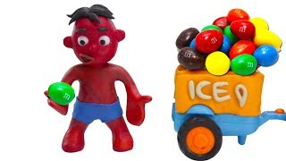 Baby Hulk Buys Ice Creams  Joker Play Doh Cartoons Claymation Animations