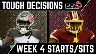 Toughest Start/Sit Decisions - Week 4 - 2019 Fantasy Football Advice