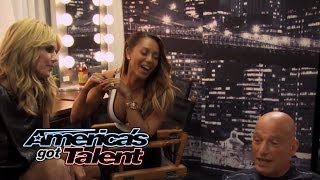 Snapple Suite: Can Heidi Klum Get Howie Mandel to Touch Her Tongue? - America's Got Talent 2014
