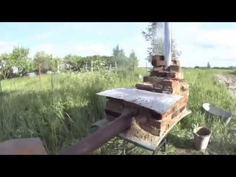 Коптильня из старых кирпичей за два часа своими руками
