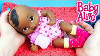 Baby Alive Luv n Snuggle Doll and Our Generation Star Sock Set Unboxing