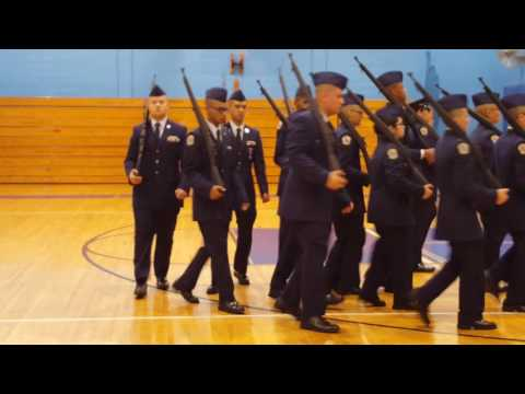 Jrotc Drill Competition 2016 NYC Aviation high school - at John Bowne High School(part2)