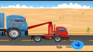 Kartun Mobil Mobilan Animasi Mobil Derek Truck Ged...