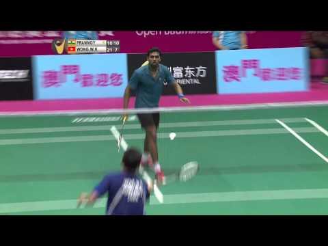 SF - 2014 Macau Open - Vincent Wong Wing Ki vs H. S. Prannoy