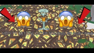 | Roblox| Lumber Tycoon 2: HOW TO GET SQUIDWARD PAINTINGS FOR FREE