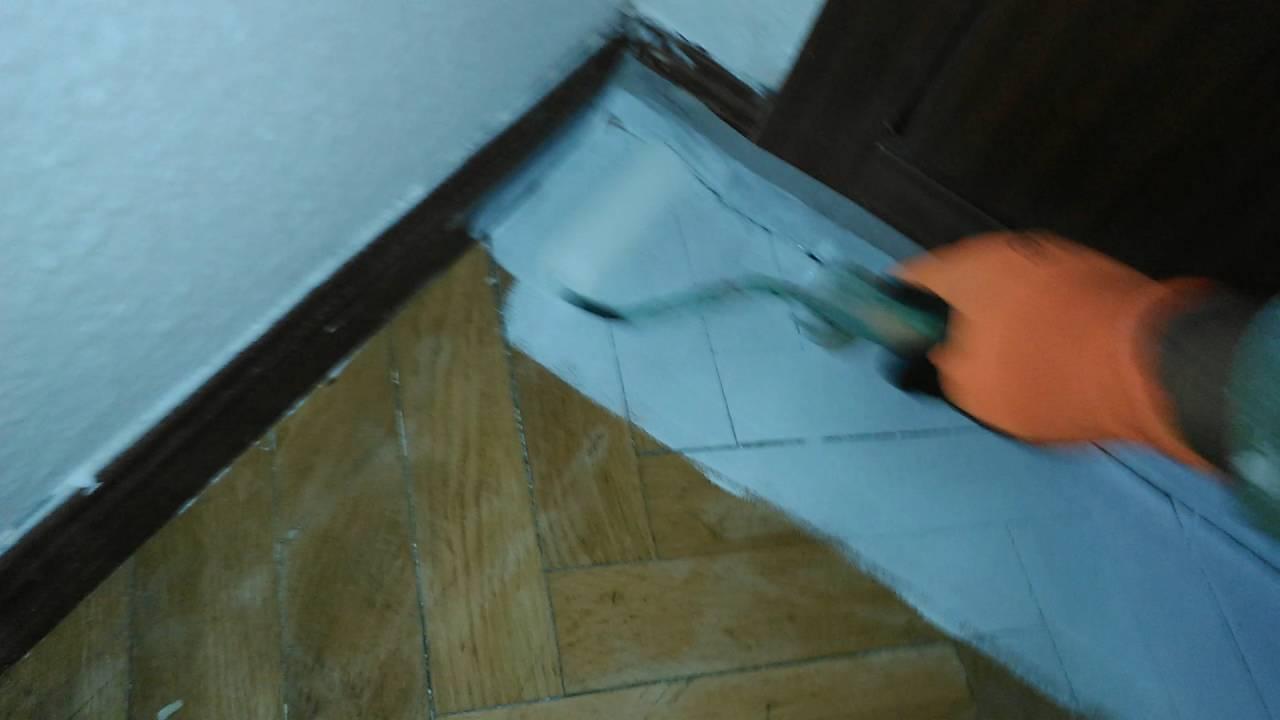 Pintar un suelo de parquet lv youtube - Pintar suelo de cemento ...