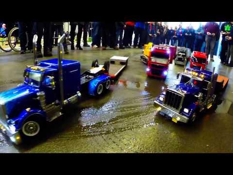 Amazing RC Scale Trucks on trade fair in Lingen/Tamiya, Wedico....