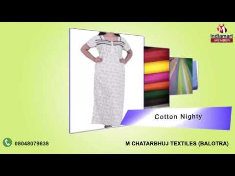Cotton Poplin And Fabric by M Chatarbhuj Textiles, Balotra
