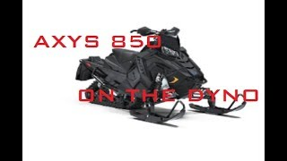 Axys 850 on the Dyno - out of break in BIG NUMBERS!