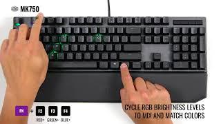 MK750    Recording Custom LED Profile